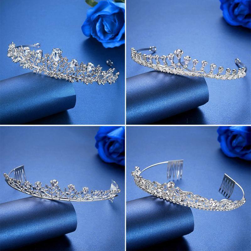 Hair Clips & Barrettes Minlover CZ Flower Wedding Tiaras Crowns Rhinestone Women Headbands Bridal Ornaments Jewelry Accessories Diadem HG091