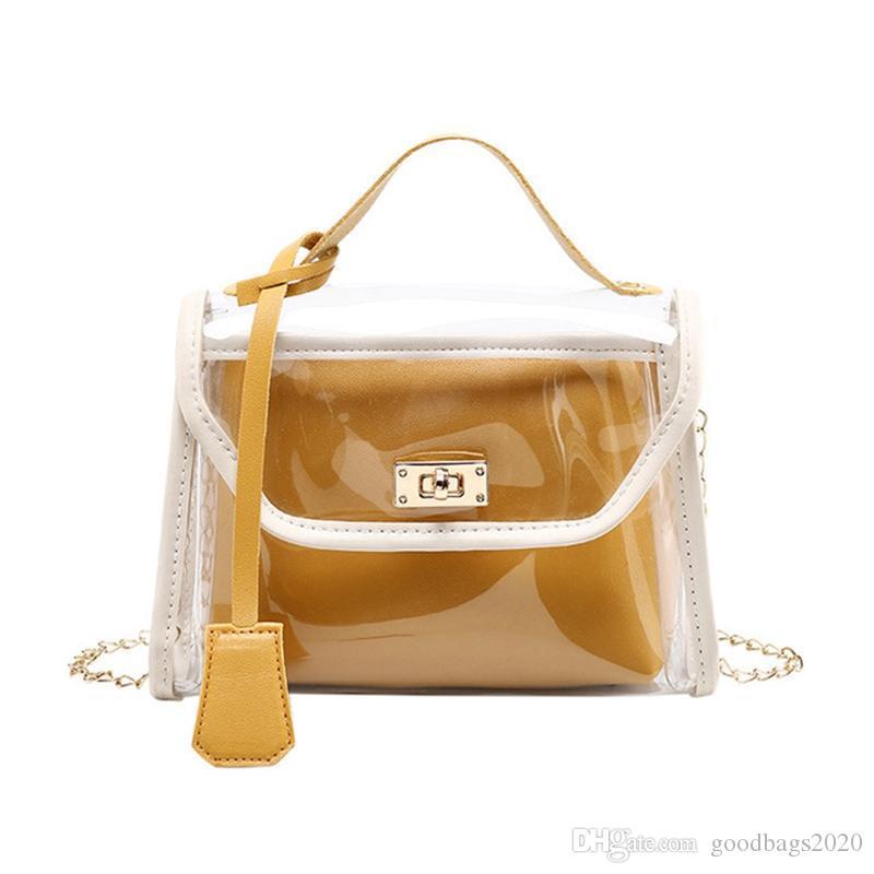 فاخر مصمم حقائب اليد المحافظ جلد النساء أزياء كول أكياس جيلي حقيبة السيدات الكتف رسول عارضة سلسلة مربع صغير حقيبة 191013