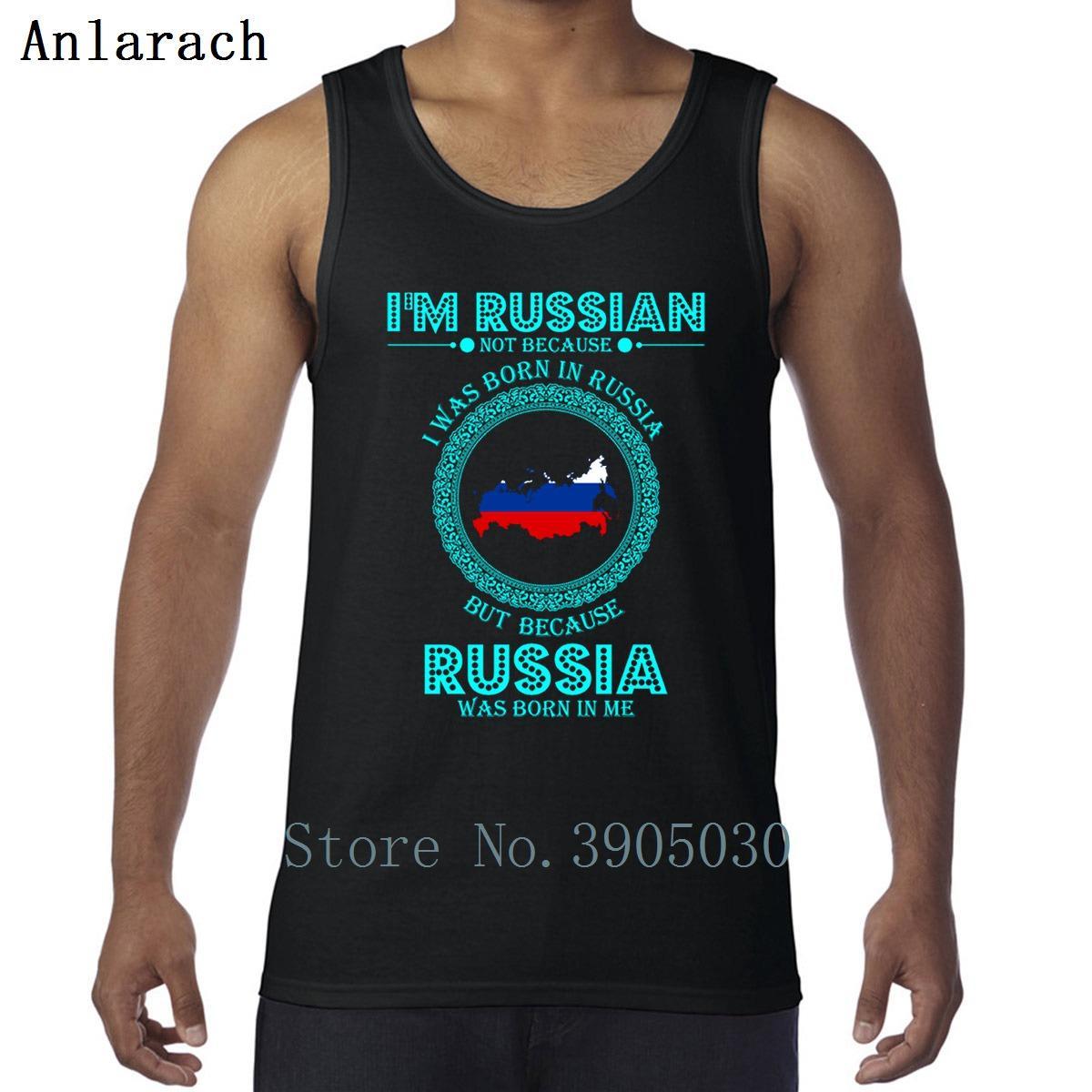 Je suis Russe Non Parce que je suis né en Russie Vest Printemps Automne unisexe sport Débardeur Homme Personnaliser Taille Plus 3XL Funky