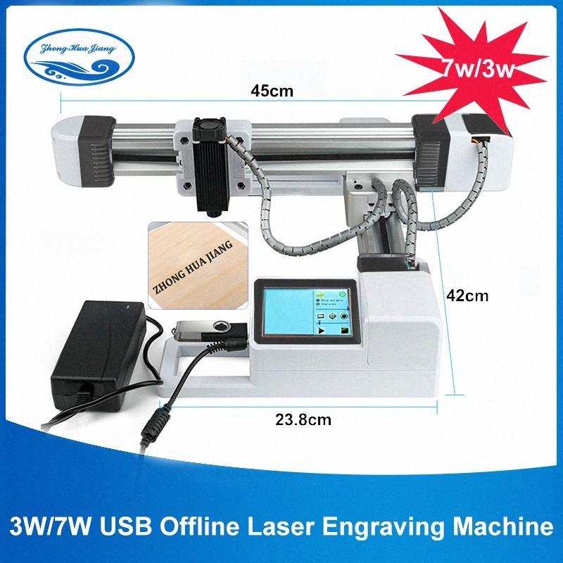 3W/7W USB Offline CNC Laser Engraver/Work Area:15.5x17.5cm/Big Power 7000mw Laser Carving Stainless Steel /DIY Logo Mark Printer nWS5#