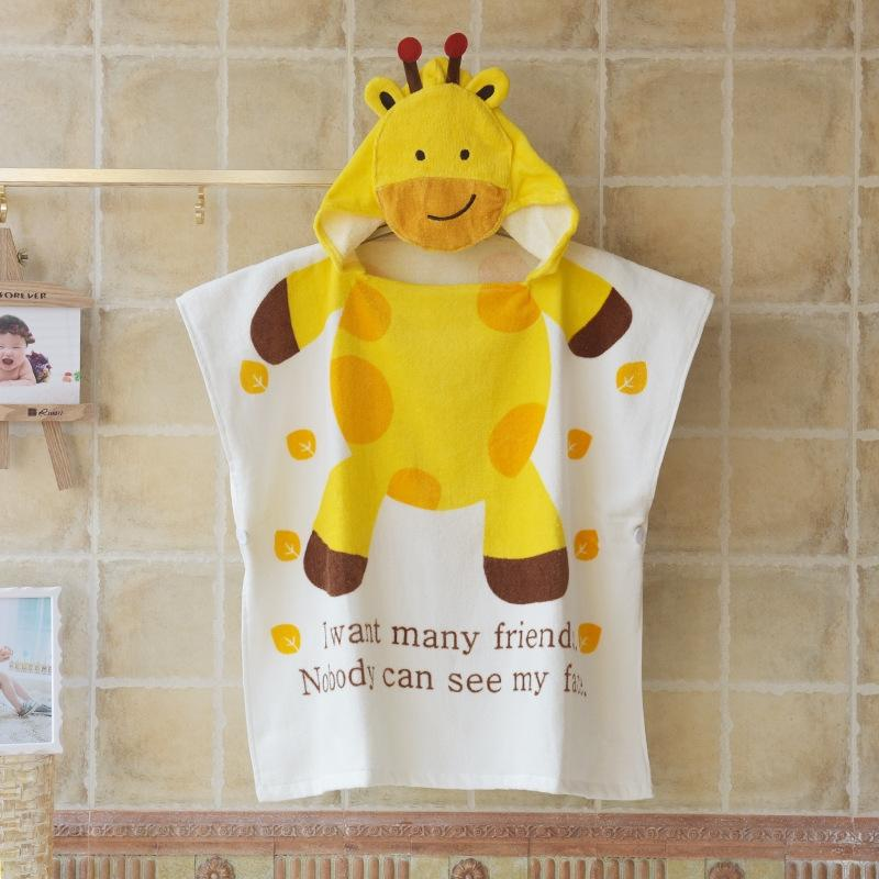 Pure Cotton children's cartoon animal children's cloak Cloak Bathrobe bath towel bathrobe cotton bath towel