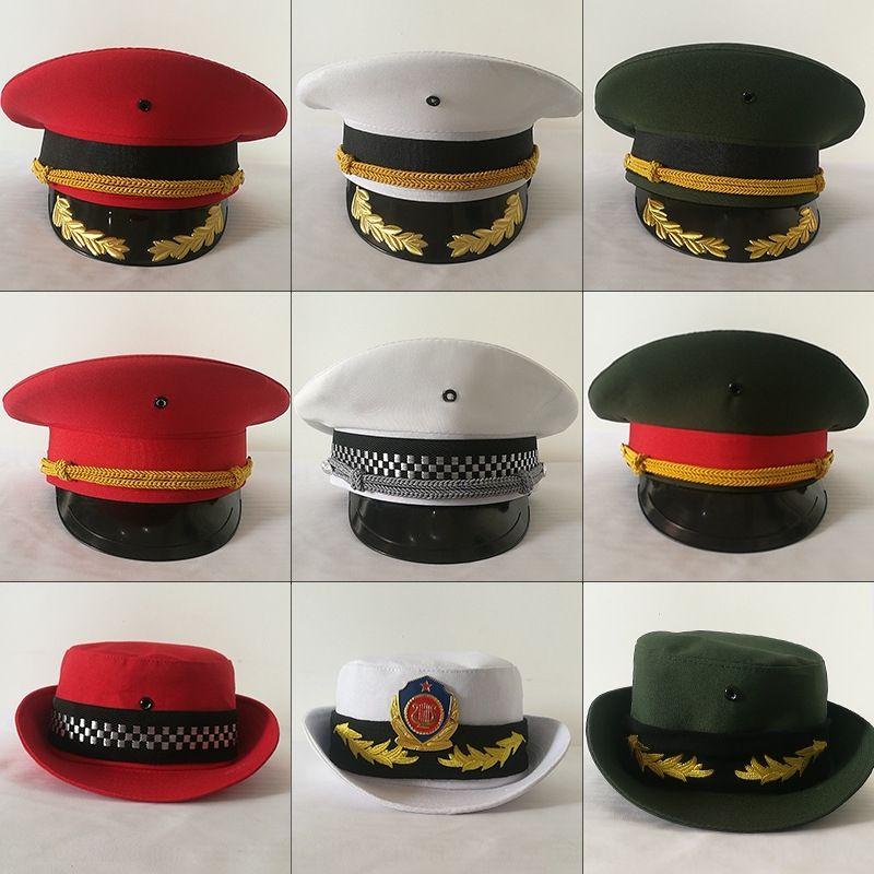 Flag-raiser National Flag class guard of honor uniformuniform hat formal dress big hat curving capuniform performance