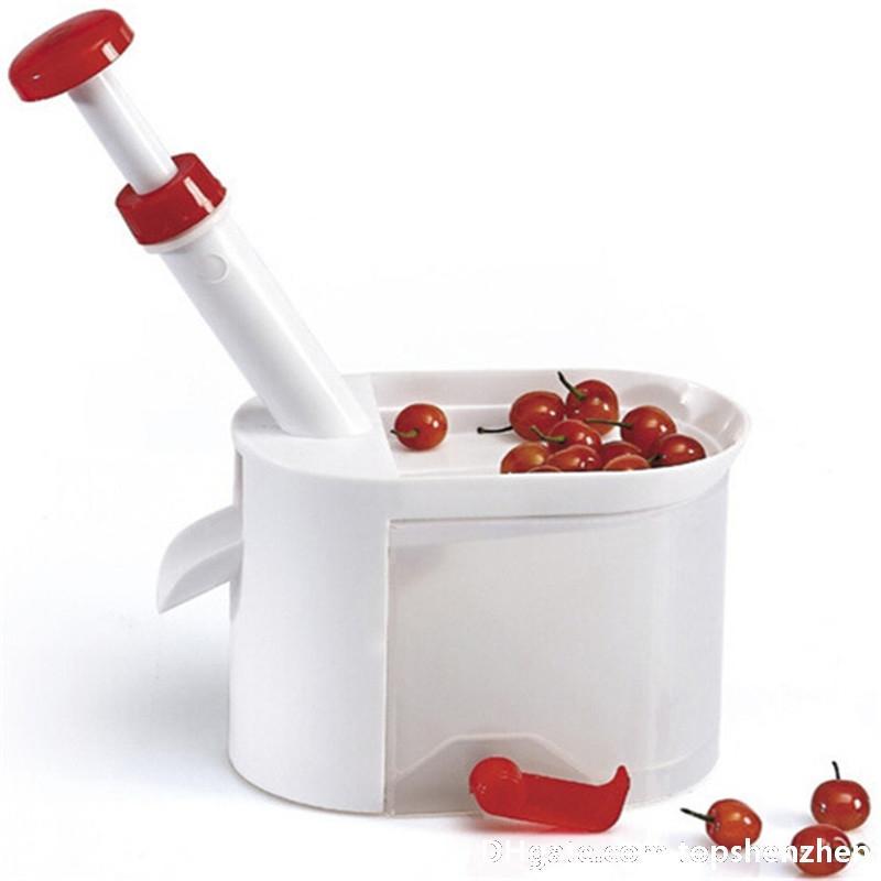 Cherry Corer Container Cherry oliva Pits Pitter pietra semi Remover macchina facile Operazione Strumento di cucina