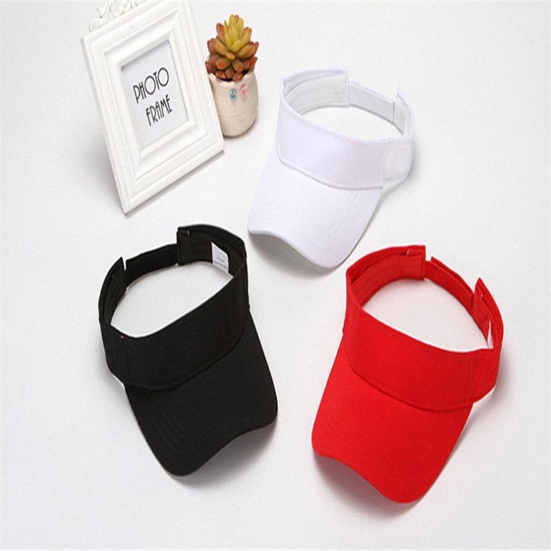 Casual Simples Chapéu de Sol Light Weight Plain Homens Mulheres Verão Estilo Sun Visor Cap Hat Para Golf Caminhadas Tênis Acessórios Jac6 #