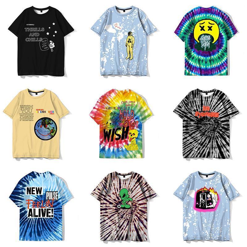 Hipster Tee Tops streetwear Yeni moda fan aşınma Scott Astroworld komik tişört erkek kişilik Hip Hop serin Travis Camiseta S-XXL qs4 rJVL #
