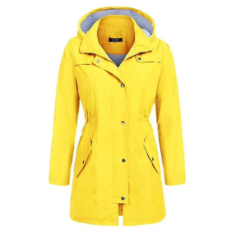 M9RyI New casual waterproof clothes waist hooded medium and long rain for women New casual waterproof clothes waist hooded medium and long r