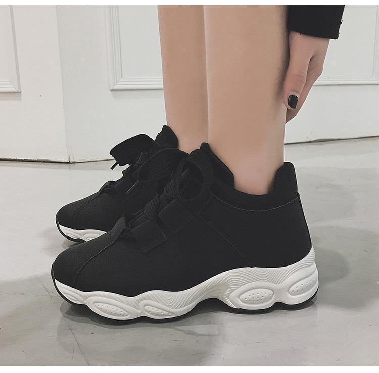 nuevos zapatos casuales blancos otoño femenino versión coreana de los estudiantes de Deportistas ulzzang correr