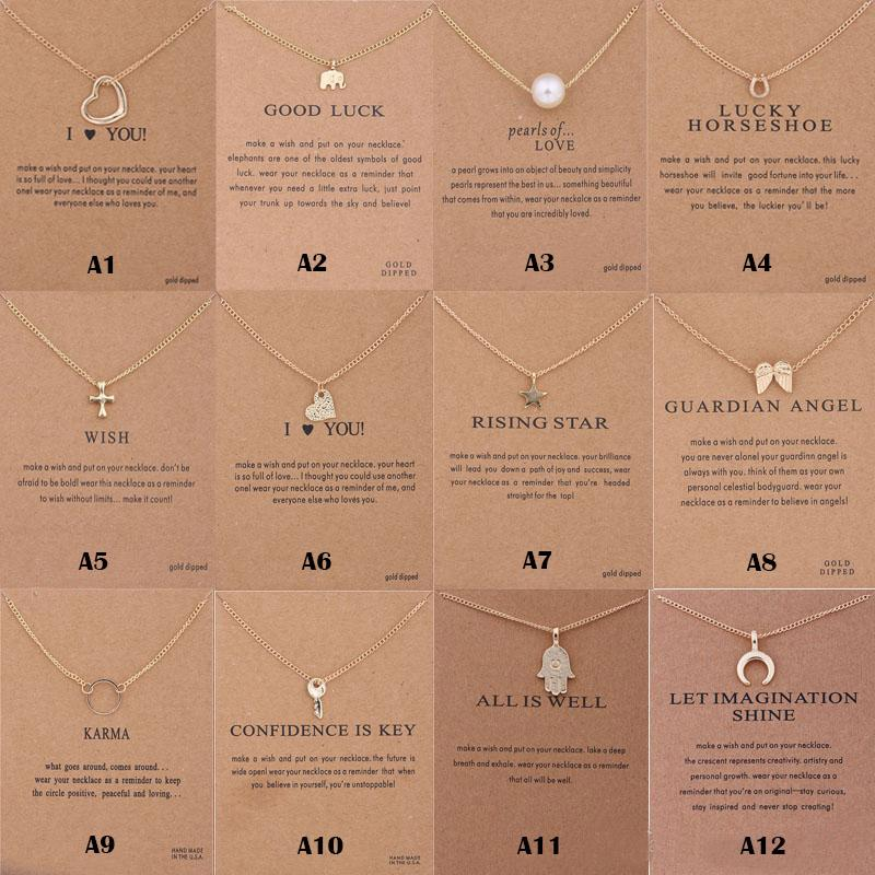 New Arrival Designer Necklace Charm Multi-styles Pendant Necklace with card For women Fashion designer earing Jewelry Gifts