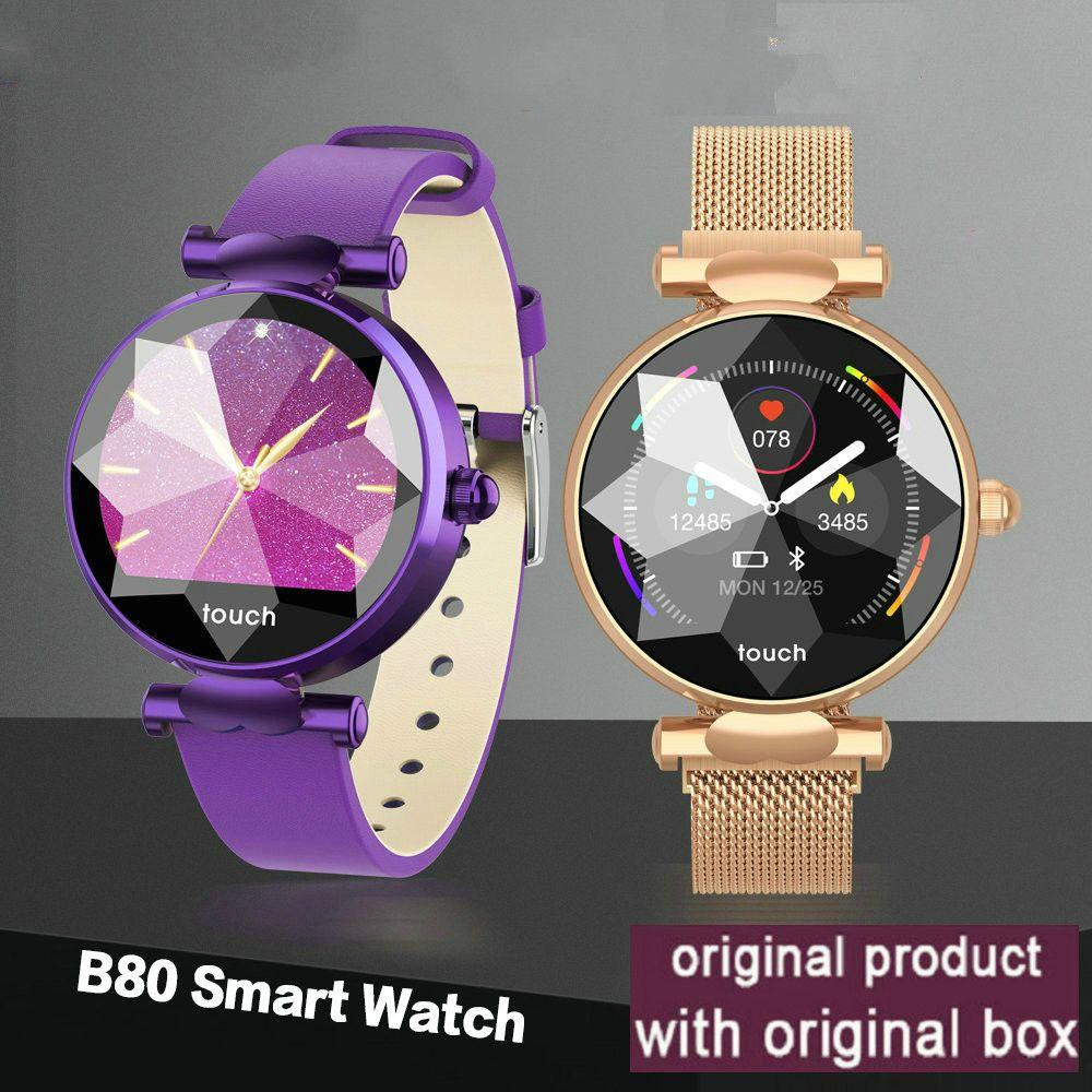Tasa inteligente reloj B80 corazón femenino Monitor de la presión arterial de la aptitud pulsera inteligente Control de actividad deporte de la manera relojes de señoras