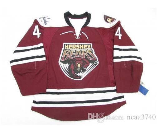 Custom Men Youth women Vintage Hershey John Carlson Avalanche Capitals Hockey Jersey Size S-5XL or custom any name or number