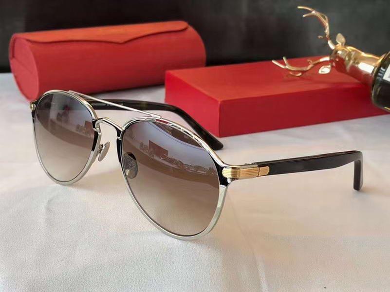 Box ile Erkekler Pilot Sunglasses ct0212s Sonnenbrille Gümüş Kahverengi Gölgeli Moda Güneş Gözlük Güneş erkekler Özel Tasarım Güneş gözlüğü Yeni