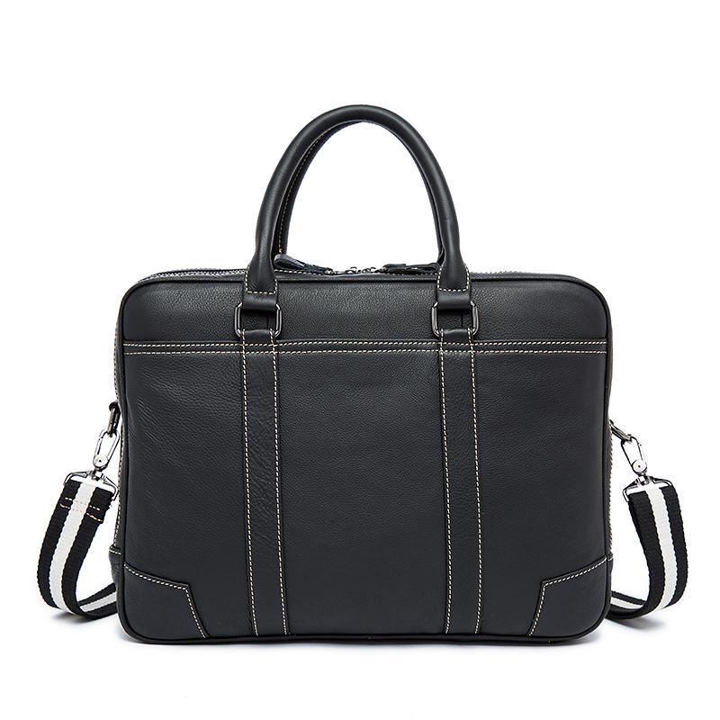 Лето для кожаной сумки 2020 Портфель Topwood Кожаная сумочка Бизнес-посланник Цвет мужской мужской плечо сплошной один EBMHF
