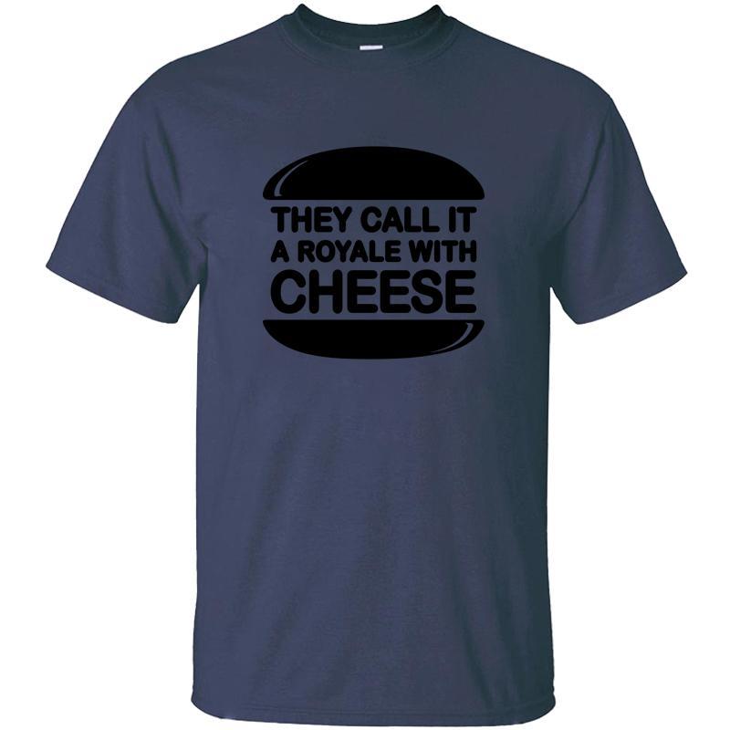 Gestrickte Lustige Royale mit Käse T-Shirt aus 100% Baumwolle Outfit mit Rundhalsausschnitt Männer-T-Shirts Short Sleeve Shirt Hiphop
