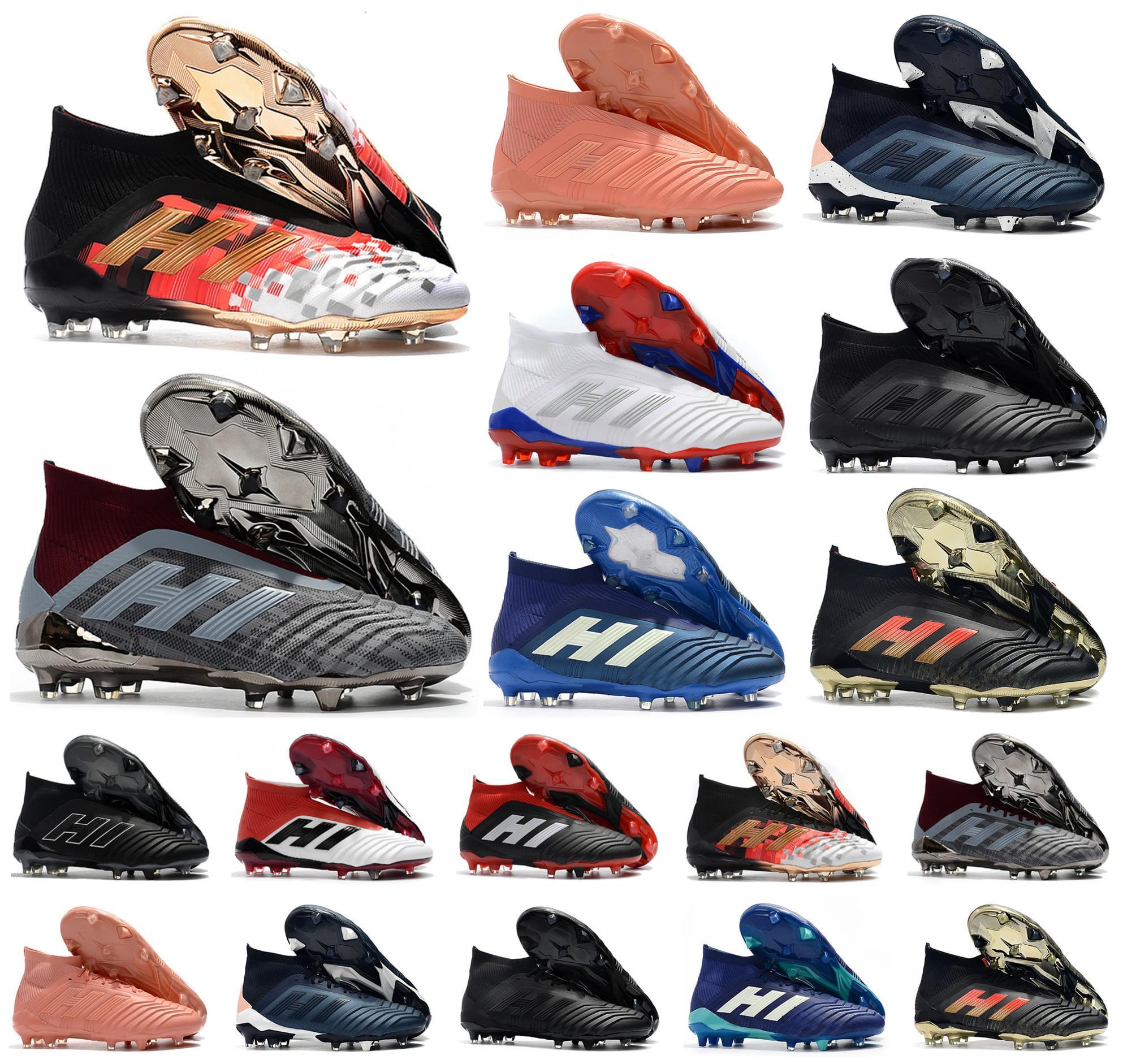Hot Predator 18+ 18,1 FG Telstar PP Paul Pogba Fußball 18 + x Klampen Slip-On Fußballschuhe der Männer hohe Spitzenfußballschuhe Größe 39-45