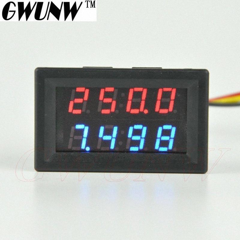 GWUNW BY42A 500V 10A DC 4 BIT Digital Tensão Amperímetro Tester atual do medidor voltímetro Dual Display Vermelho Azul Verde LED i5sK #