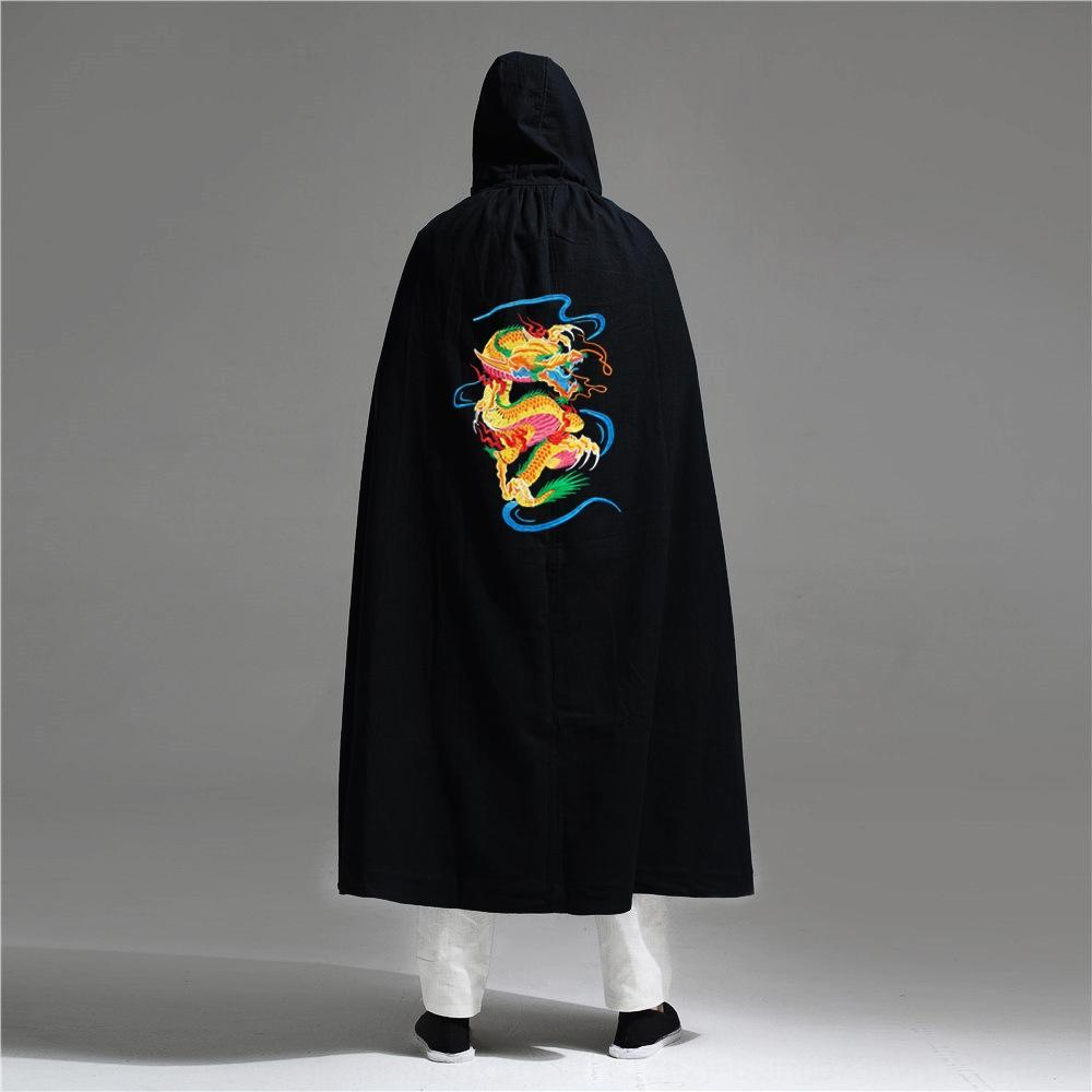 x3956 2020 bordado traje antiguo personalidad de los hombres de ropa china manto de algodón estilo y ropa de los hombres del otoño nuevos chinos zanja Capa