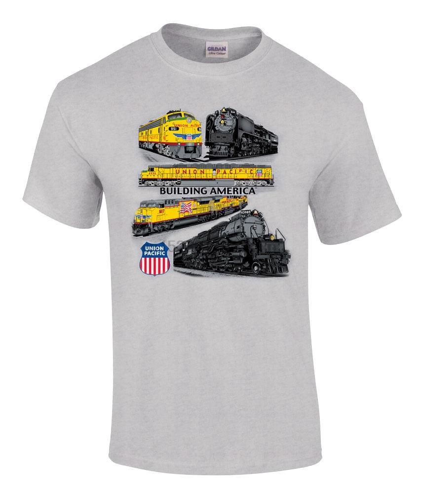 Hot New 2020 Union Pacific Collage authentique T-shirt de chemin de fer [64] T-shirt d'été de la mode
