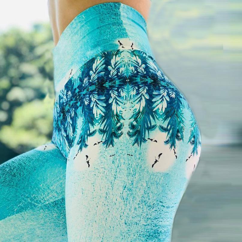 Mode-Frauen-Gamaschen dünne hohe Taille Spandex Elastizität Gamaschen Fitness Druck Leggins Breathable Frauen-Hosen-Gamaschen 7 Farben