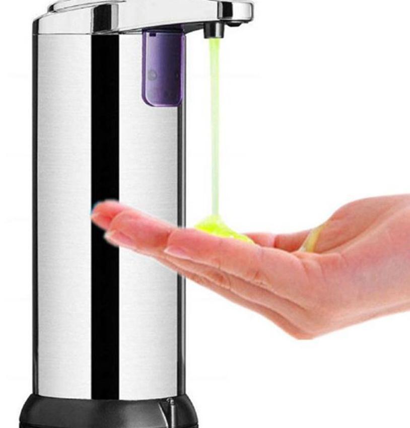 250ml Automatischer Seifenspender Edelstahl Touchless freihändig IR Sensor-Seifen-Flüssigkeitsspender für Badezimmer Küche LJJK2353