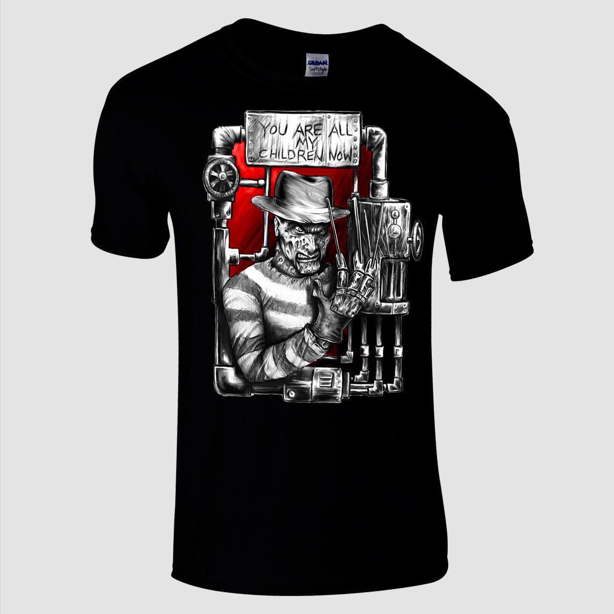 Freddy Krueger Sie sind alle meine Kinder Premium-schwarz regular fit Horror-T-Shirt kühle beiläufige Stolz T-Shirt Männer Unisex