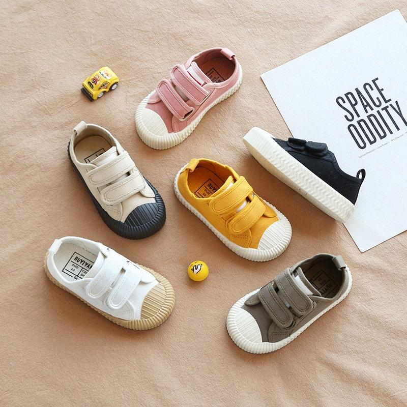 Осень New Solid Color Детская повседневная обувь Холст обувь мальчиков и девочек Спорт Kid Дети Девушки kqdZ #