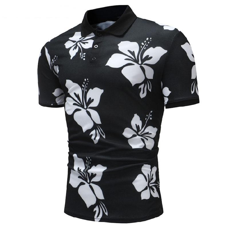 Summer Cotton Shirt Men Short Sleeve Casual Floral Soft Camisa Shirt Tops For Men Brand Tops&Tees XXXL