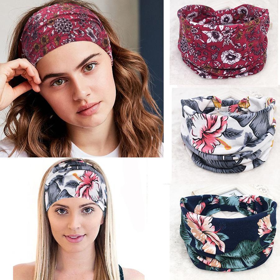 Yoga ethnique Floral Bohème Bandeau cheveux bande de femmes Rétro Accessoire Visage Headwrap Tissu Fashion Head Band 64 Designs DHA232