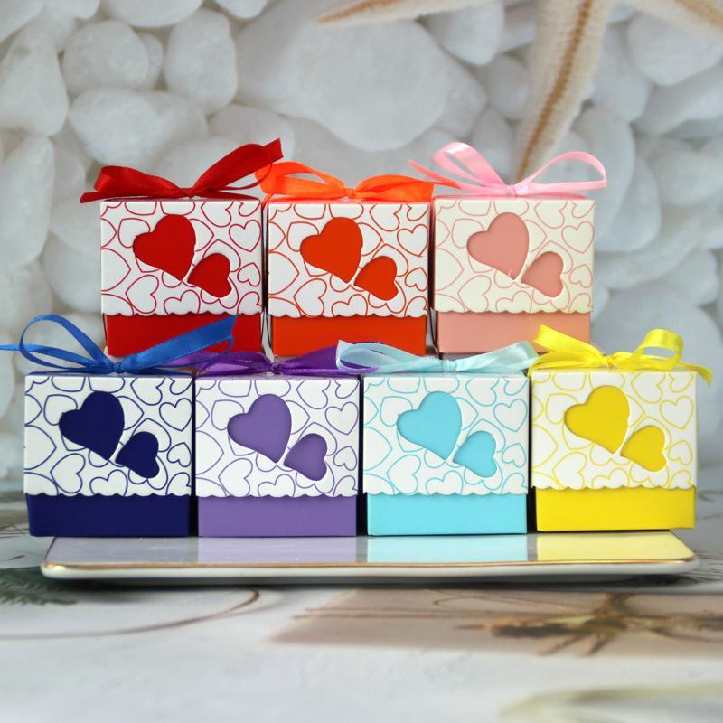 10шт / 30Pcs формы сердца полые конфеты коробка свадебные украшения конфеты Подарочные коробки сумки пакет Подарки Валентина Подарок