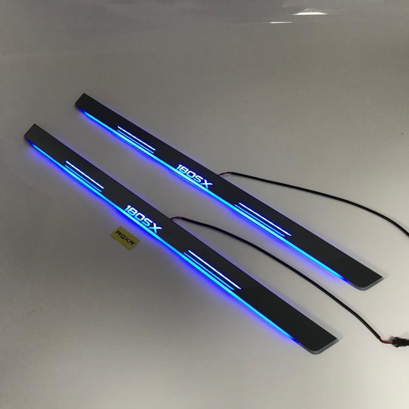 RQXR 흐름 오버레이 평면 라이닝 판의 동적 씰 180SX 도어 용 도어 스커프 LED 이동 / 고정 빛
