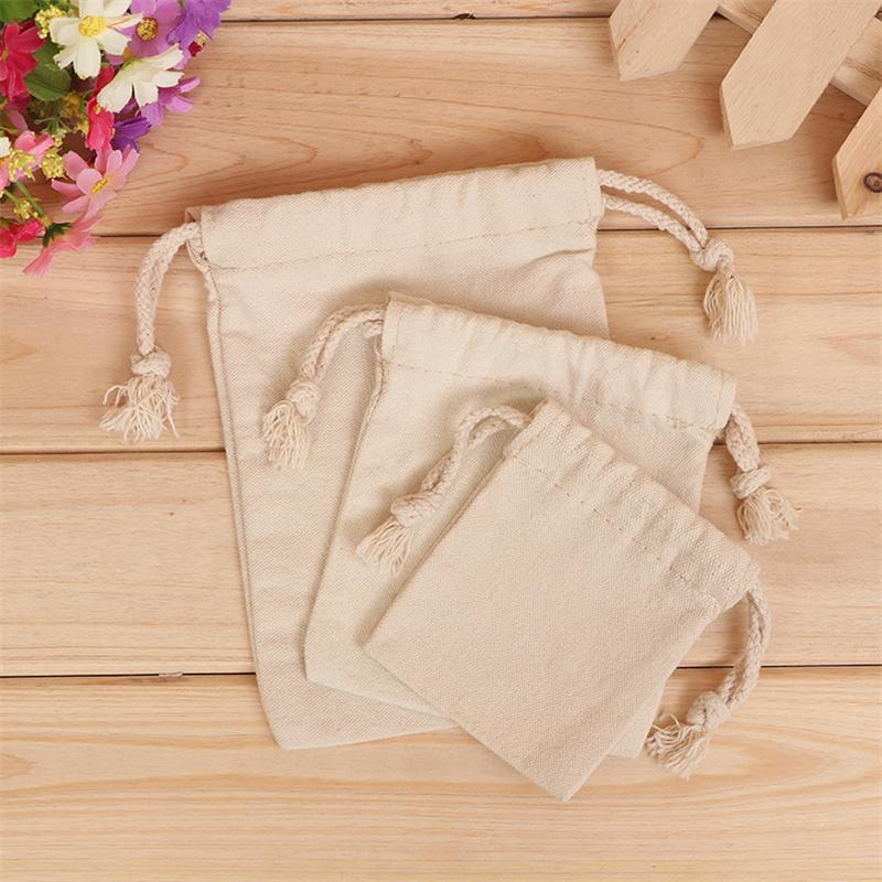 10pcs Spot canvas drawstring bag, cotton cloth bag custom bag, storage bag, dust bag size bags printed LOGO