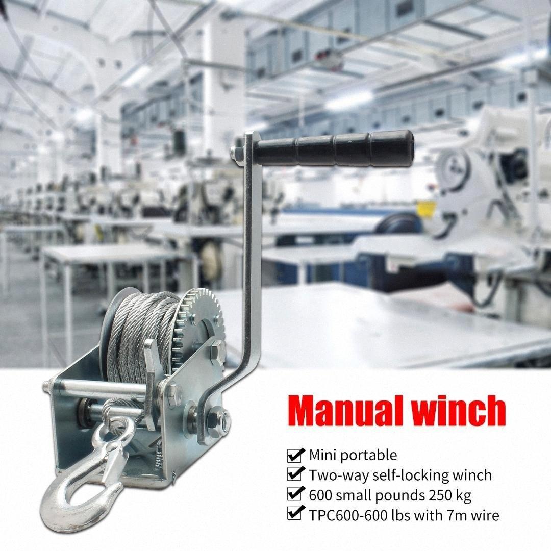 600/1600/3500lb Steel Cable Hand Winch Crank Gear Winch ATV Boat Trailer Heavy Duty Hand tool lifting sling CJde#