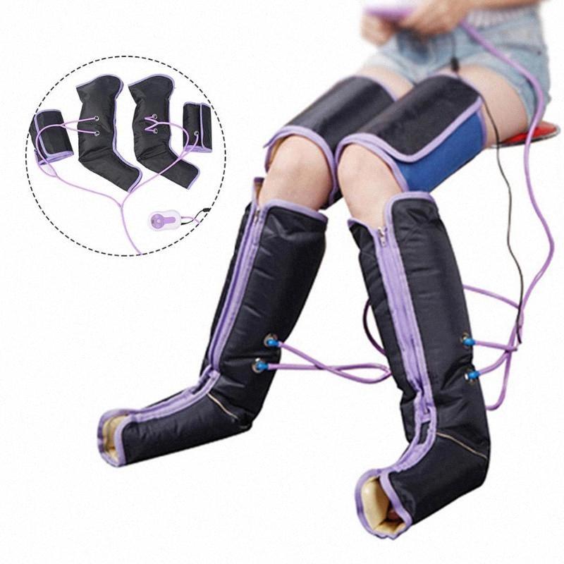 Сжатие воздуха для ног Массажер для ног электрической циркуляционного Обертывания для тела для ног лодыжки теленок терапия bymw #