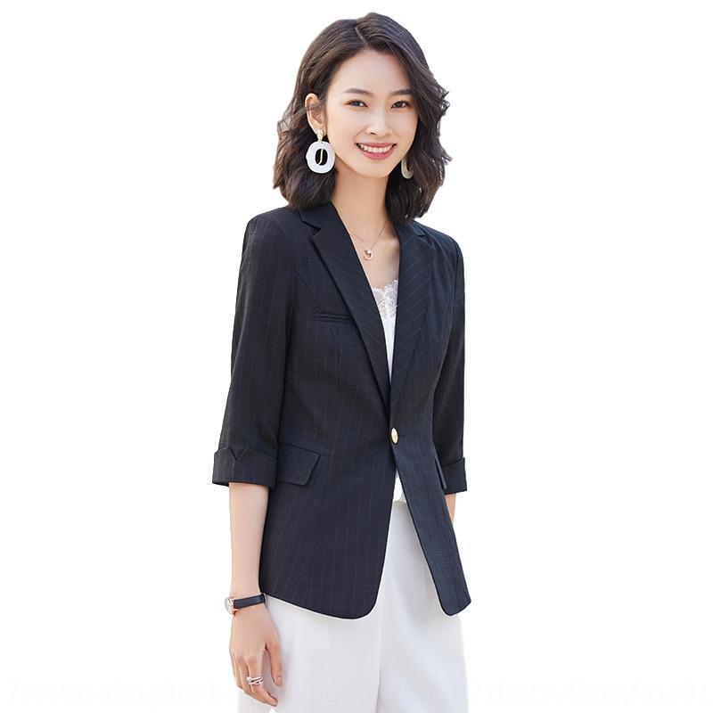 xvyoN 2020 весной и летом новый небольшой костюм худощавое короткие белые короткие пальто обрезается случайные модный рукав пальто внешний костюм