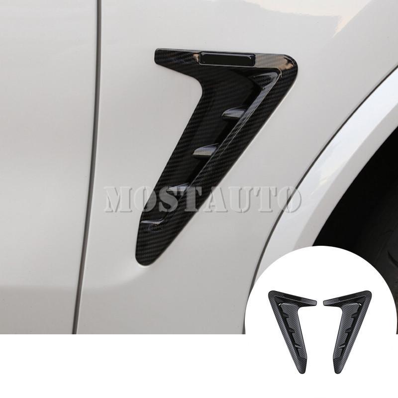 Per BMW X3 G01 G02 X4 ABS Chrome Marker Fender Side Air Vent Copertura 2018-2020 2pcs Nero / Argento