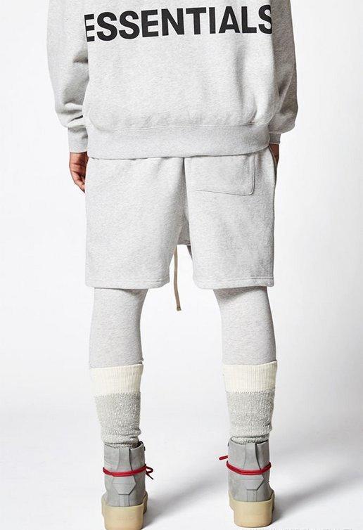 Essentials Homens Calças de cintura alta Joggers Casual Zipper confortáveis Calças Essentials calças dos homens Moda calças perna larga Sólidos Lo Cor # 553