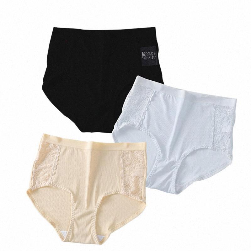 Ropa interior calzoncillos de cintura alta cómodo inconsútil atractivo de 3pcs / Lot Mujeres sólido de color atractivo de las mujeres ultra-delgada bragas Íntimos Señora 0dNw #
