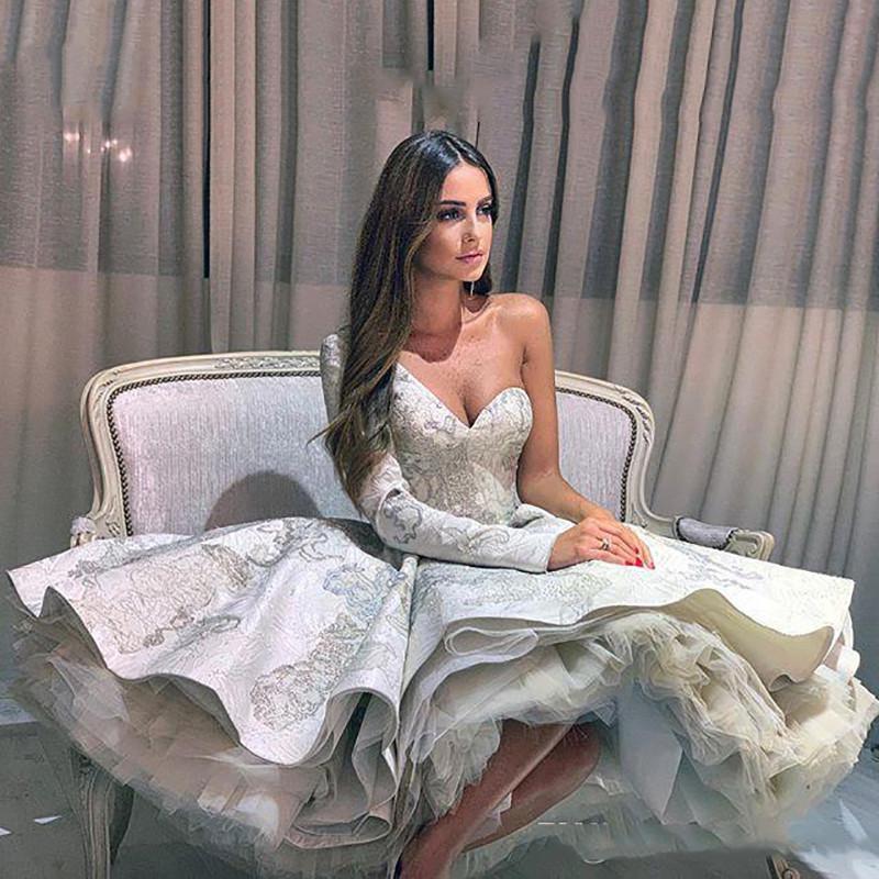 De um ombro vestido de baile Vestidos Lace Applique lantejoulas mangas compridas Vestido Pageant Vestidos Custom Made vestidos de noite