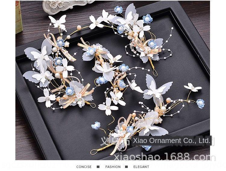 Nouvelle mariée fée Mori super fée coréenne fil blanc doux et élégant couronne de mariage de fleurs Coiffe Ornement