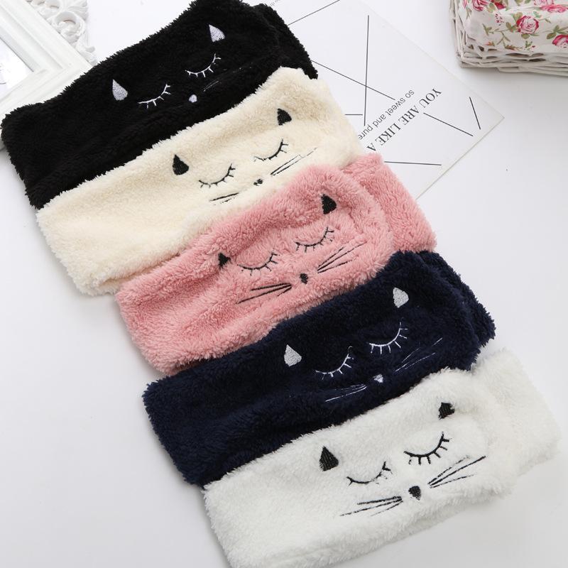5 стилей CAT вышивка ягнят ягнят для волос корейские волосы сладкие милые аксессуары девушка повязка на голову DH0191 промывка маска для мытья маска для макияжа