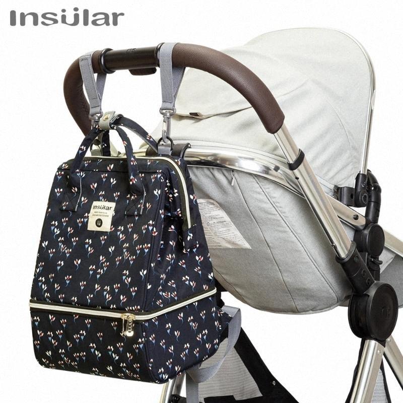 Anne AkmO # için Bebek Bezi Çanta Mumya Annelik Nappy Çanta Sırt Çantası İçin Bebek Bakımı Büyük Kapasiteli Moda Sırt Çantası Hemşirelik Çanta