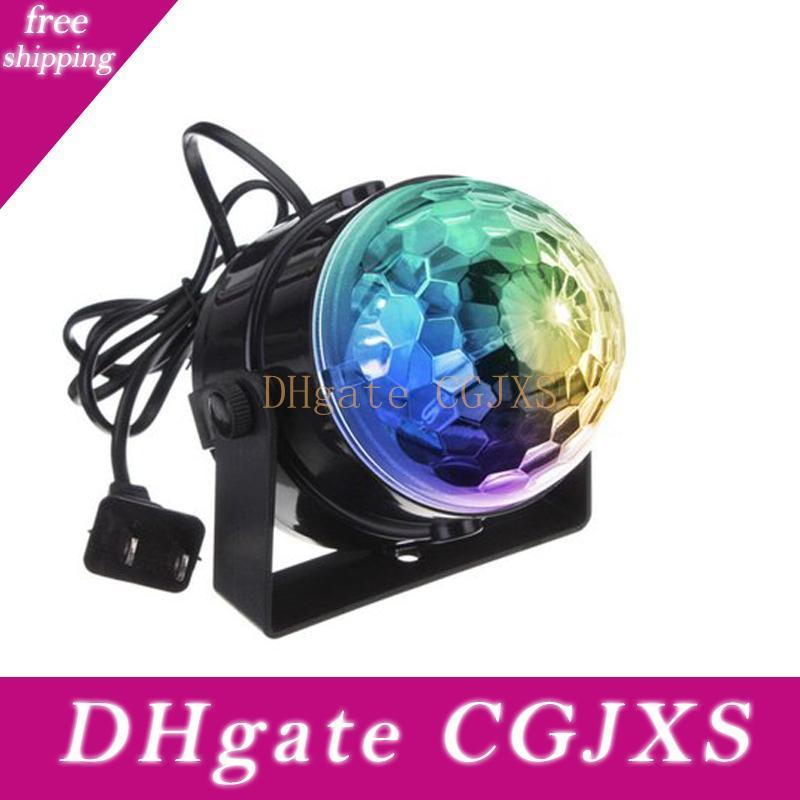 3w Mini Rgb Crystal Magic Ball Sound Activated Disco Ball Stage Lamp Christmas Laser Projector Dj Club Party Light Show