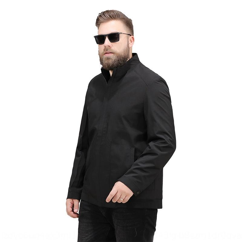 Autumn new men's plus plus size stand collar business casual coat men's fat Jacket jacket jacket