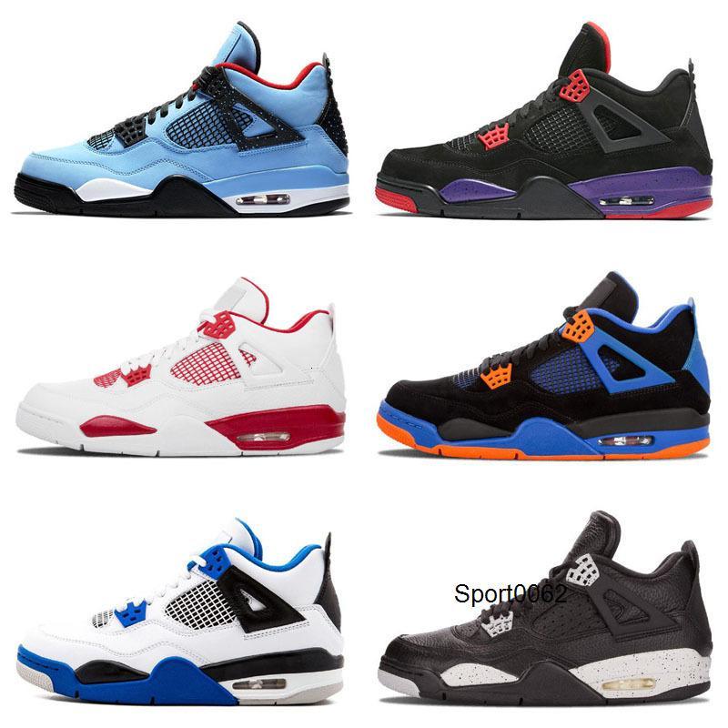 2020 Hombres Travis 4 Blue Thunder 4s OG para hombre zapatos de baloncesto de los niños NRG Raptors puro NakeskinJordánRetros zapatillas deportivas gato