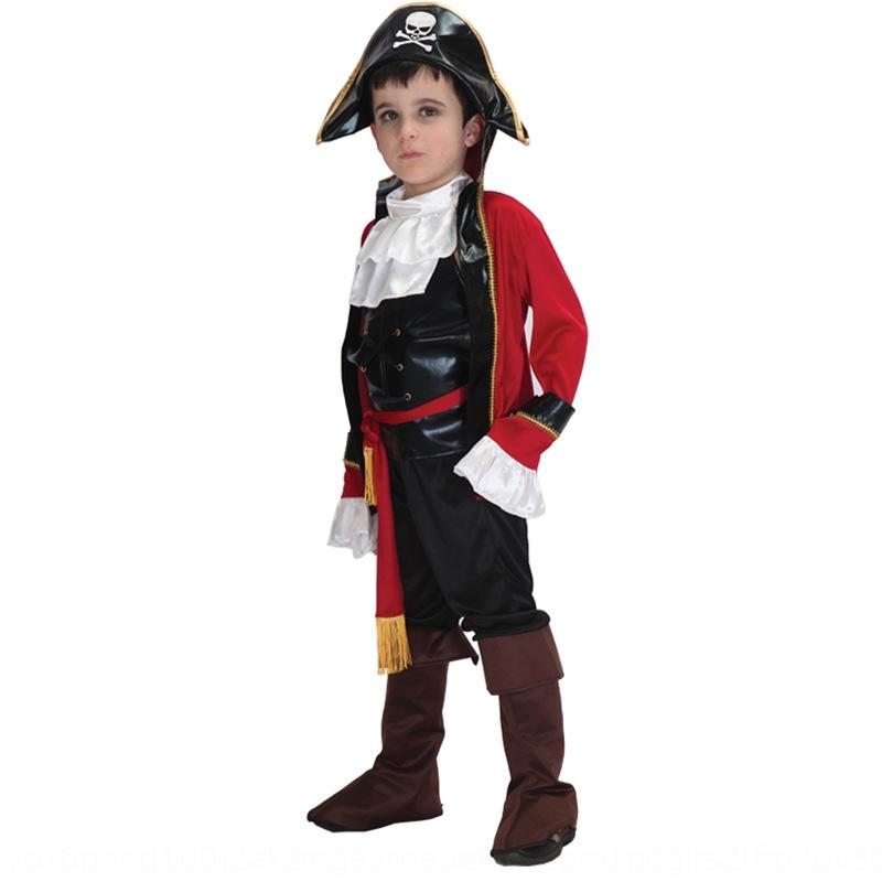 Halloween children's performance boys and girls Caribbean ship pirate clothing captain clothes children's pirate clothing