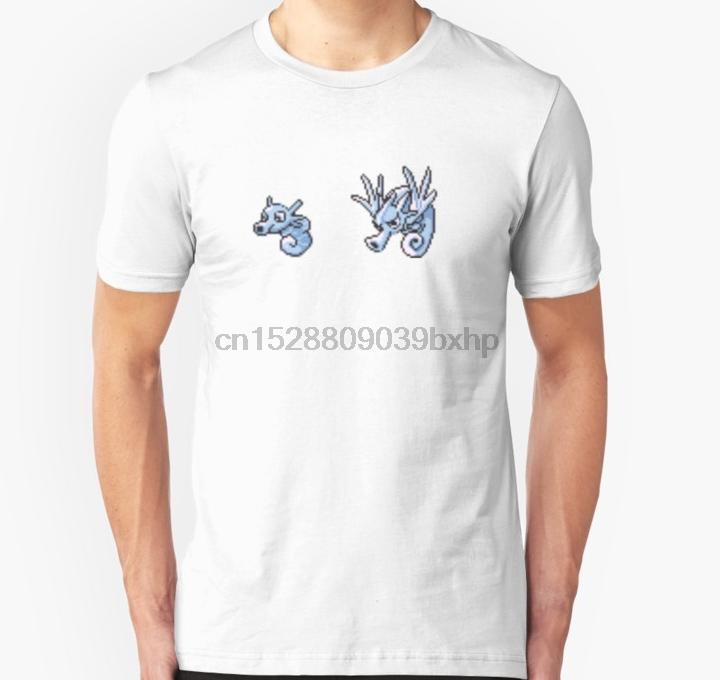 Hombres camiseta de manga corta evolución Horsea unisex mujeres de la camiseta camiseta