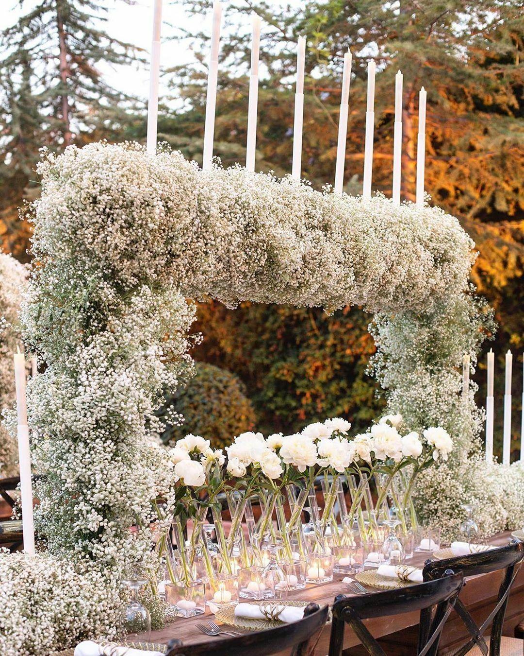 artificiales de la decoración de látex flores decoración de la boda Flores Babysbreath flor del banquete de bricolaje Home Office Scrapbooking Craft Estambre