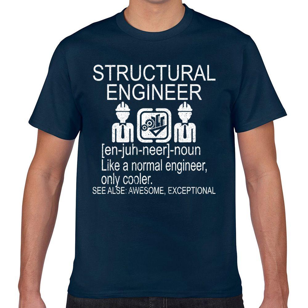 Топы Футболка Мужчины инженер-конструктор смешной смешной белый Печать Мужчина Tshirt