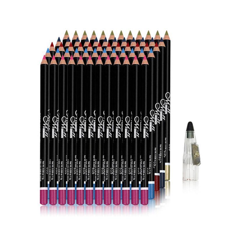 MENOW 12 Pcs/Set Eyes Makeup Eyeliner Eye Pencil Waterproof Beauty Eyes Liner Lip Sticks Eyeliner Adhesive Pen Cosmetics P08005