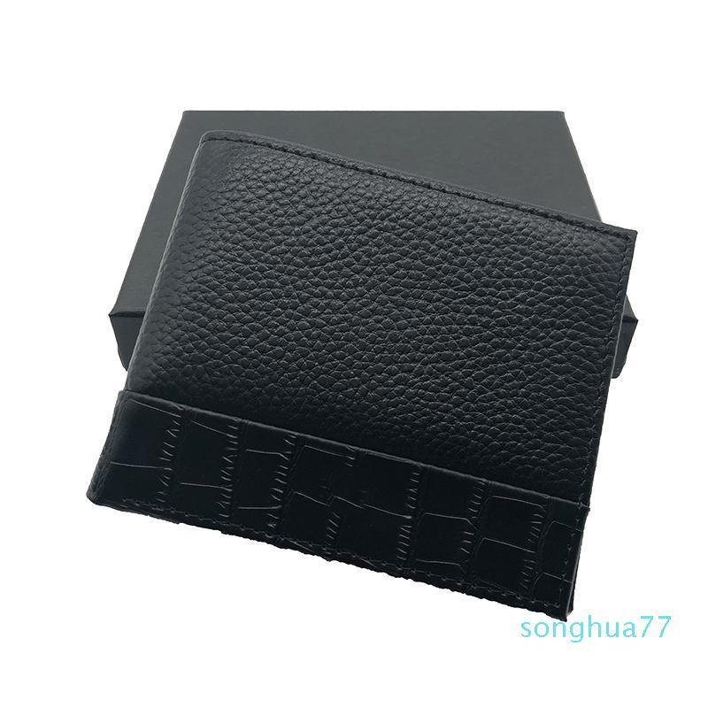 Carpetas de la manera Bolsas Thin bolsillo Carteras, los titulares de tarjeta de cuero Bolsas tarjeta del bolso del diseñador bolsos Monedero-Hombres de monedero