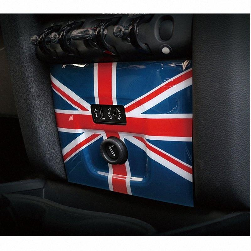 Araba Union Jack Merkezi Kontrol Çakmak Paneli Kapak Trim Fit For Mini Cooper F60 nUgM #